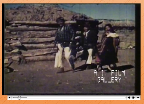 Still from Navajo Sandpainter, silent footage of tribal ritual (1941); courtesy AIFG