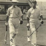 Hobbs and Sutcliffe opened the batting for England in the Third Test, Brisbane, 1928. Photo: State Library of Queensland