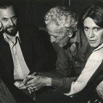 Rip Torn, Nicholas Ray, and Marilyn Chambers discussing Ray's film project, City Blues, ca. 1976. Image courtesy of the Harry Ransom Center.