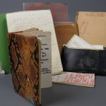 Nicholas Ray's notebooks, journals and notes. Image courtesy of the Harry Ransom Center.