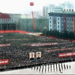 Apparently au fait with Leni Riefenstahl's work, North Korea's recently deceased dictator Kim Jong-Il staged this must-attend mass rally in Pyongyang in 2009 to celebrate his supremeness.