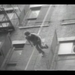 "Still from Peter Muller's ""Man Walking Down the Side of a Building,"" a document of a work by Trisha Brown; courtesy Trisha Brown Dance Company"