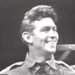 """Andy Griffith in """"No Time for Sergeants"""" in 1955, his first on-screen appearance."""