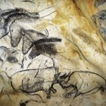 Horses galloping in a cave near Chauvet, France