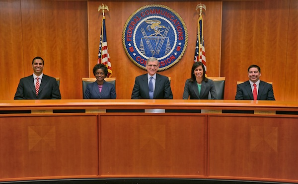 Wheeler and Commissioners. FCC photo.