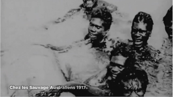 """From a 1917 film, """"Sauvage australiens."""""""