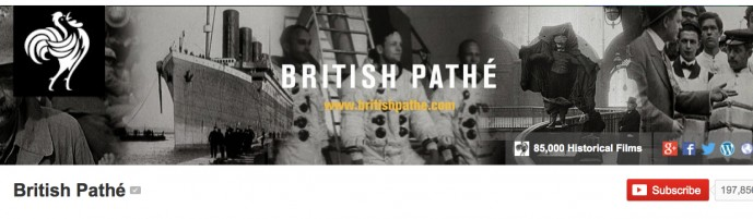 british pathe youtube banner