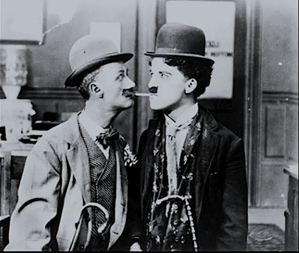 Ben Turpin & Charlie Chaplin in His New Job