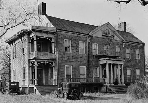 The General Alexander Macomb House, Belleville, erected c. 1784-1797; additions and renovations 1870, as it appeared in 1935. Demolished 1940. Belleville Public Library