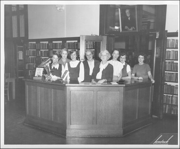 Library Staff 1952. Belleville Public Library and Information Center.