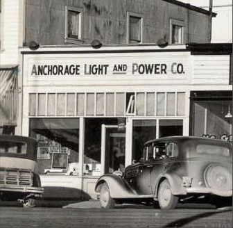 Original Anchorage Light & Power Company offices.