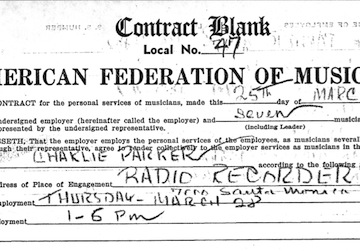 charlie parker contract copy