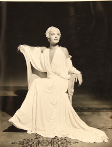 Kay Francis in an Orry-Kelly design — gowns were his speciality. Rialto Distribution.