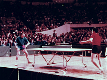 Chinese Table Tennis Delegation in USA (The Central Newsreel and Documentary Films Studio of The People's Republic of China, 1972) Courtesy of the Chinese Film Collection at Moving Image Resource Center, University of South Carolina.