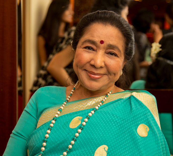 The late, great Asha Bhosle, among the most famous of Indian film vocalists.