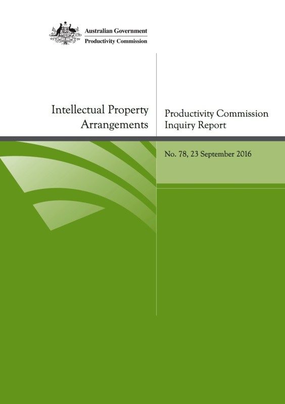 productivity commission report