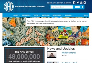 NAD web page