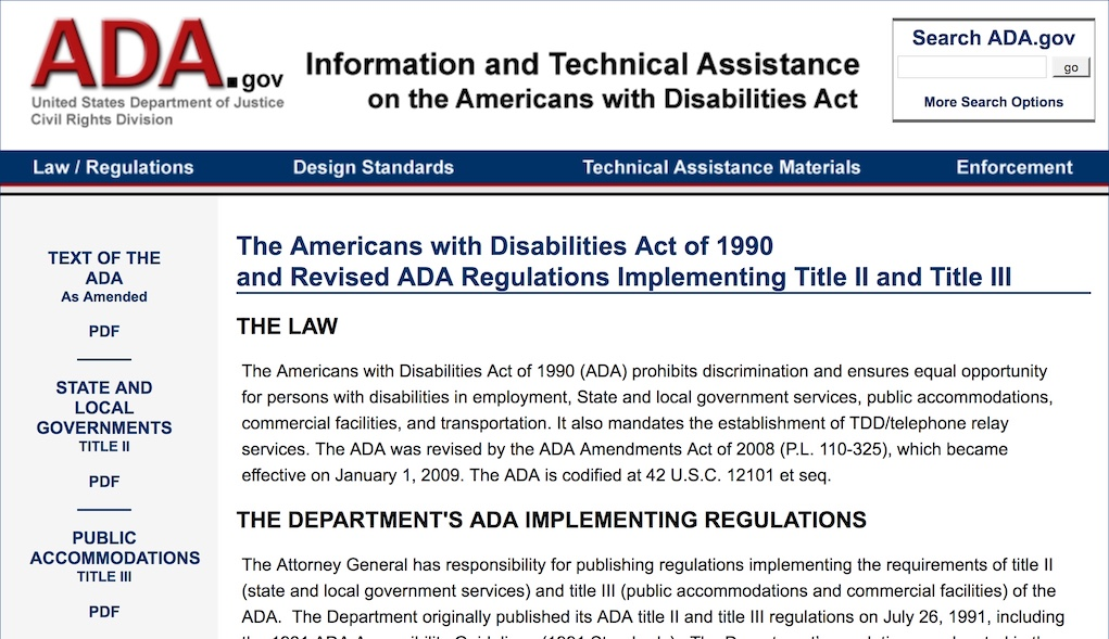 ada american with disabilities act essay