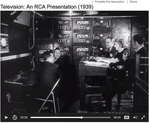 Television an RCA presentation 1939