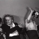 Still from Rosenblatt Wedding, 1945, Chicago, Illinois. Source: Lou Rosenblatt. From the DVD Living Room Cinema: Films from Home Movie Day, Vol. 1.; image courtesy of Home Movie Day