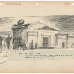 Storyboards from Rebel Without a Cause (1955). Image courtesy of the Harry Ransom Center.