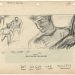 Storyboard from Rebel Without a Cause (1955). Image courtesy of the Harry Ransom Center.