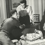 Nicholas Ray directing Robert Ryan in On Dangerous Ground (1952). Image courtesy of the Harry Ransom Center.