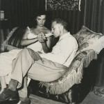 Nicholas Ray and Jane Russell on the set of Hot Blood (1956). Image courtesy of the Harry Ransom Center.