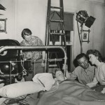 Nicholas Ray directing Sumner Williams and Ida Lupino in On Dangerous Ground (1952). Image courtesy of the Harry Ransom Center.