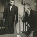 Nicholas Ray with James Dean on the set of Rebel Without a Cause (1955). Image courtesy of the Harry Ransom Center.